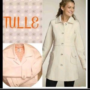 Anthropologie Tulle black wool coat XS